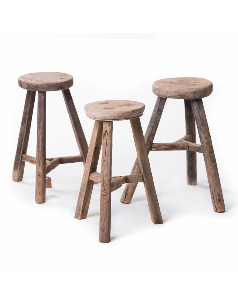 Old Chinese round stool ...