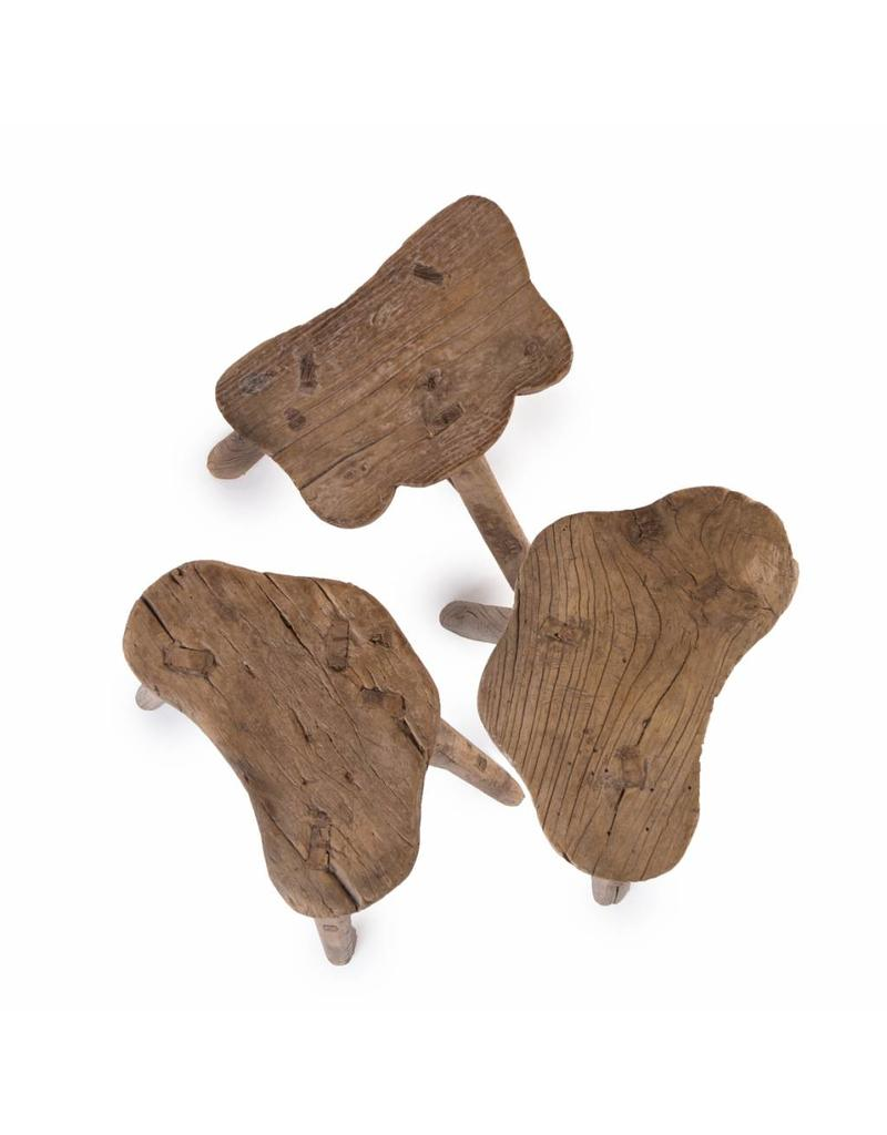 Oude houten vlinderkruk