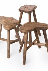 Old wooden cloud stool