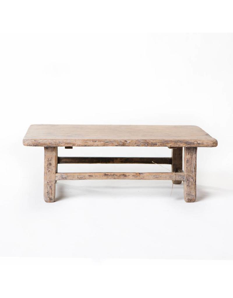 Klein Oud Houten Tafeltje.Oude Chinese Bijzettafel Old Wooden Stool Authentieke Chinese