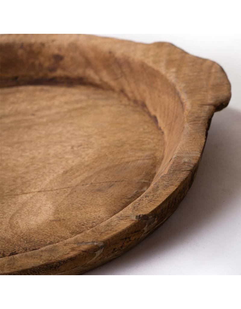 Rustic old wooden tray