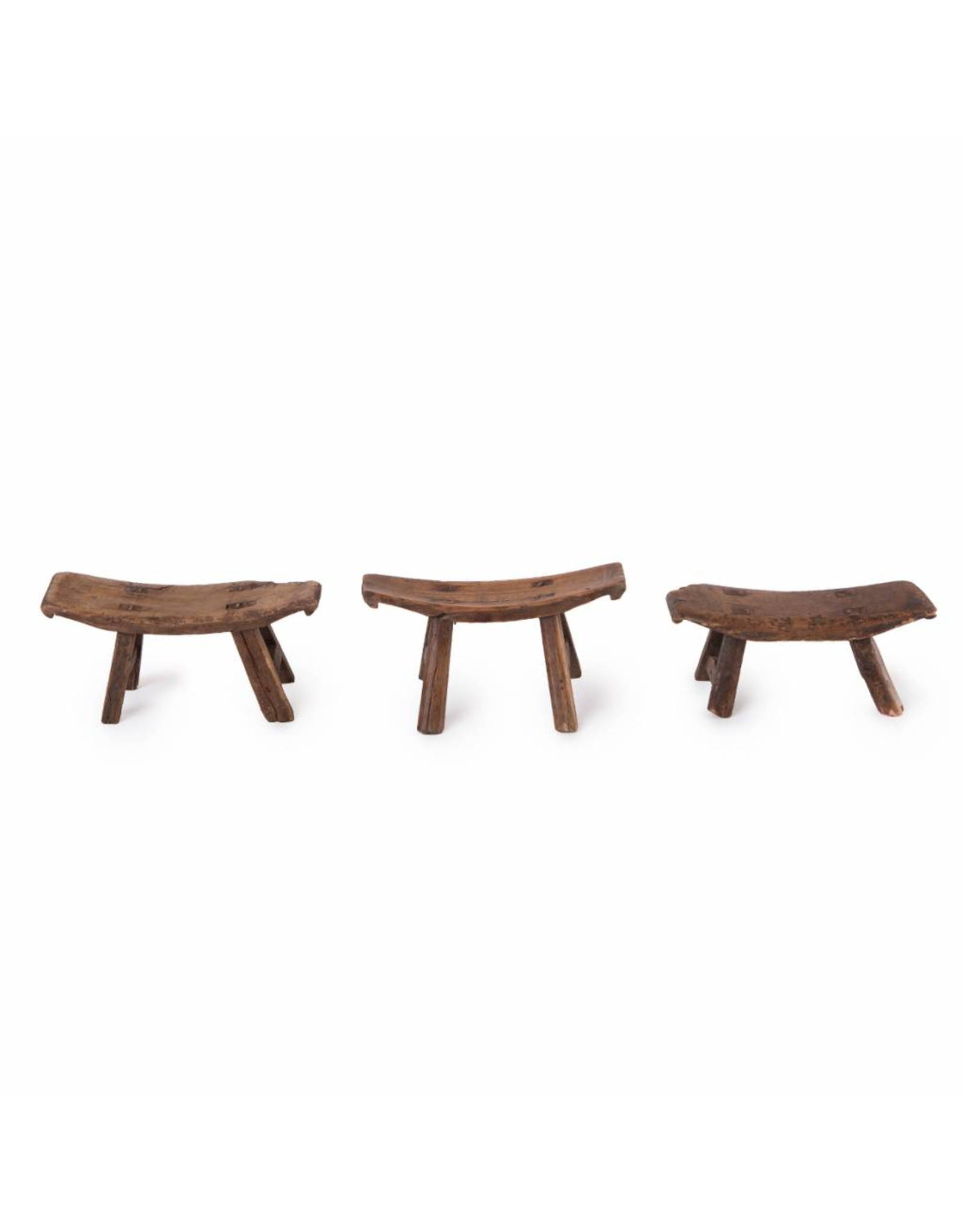 Chinees oud mini houten krukje