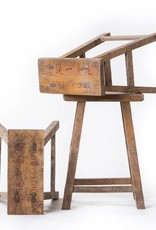 Old student stool - beautiful stools with original student numbers
