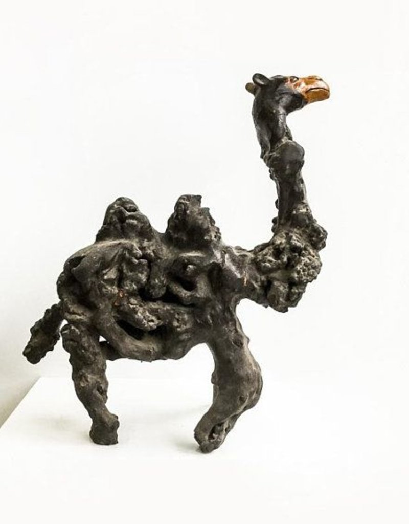 Tree root shaped camel  - Unique wooden sculpture, found in China