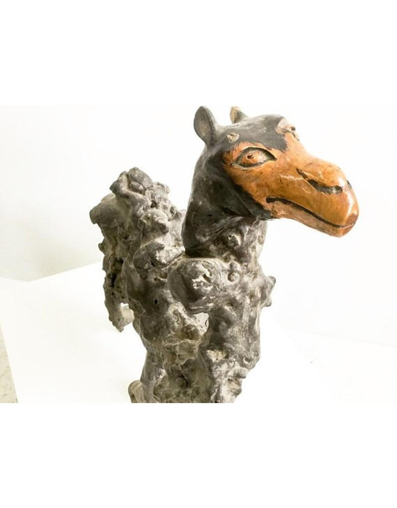 Boomwortel sculptuur kameel - Uniek houten beeld uit China