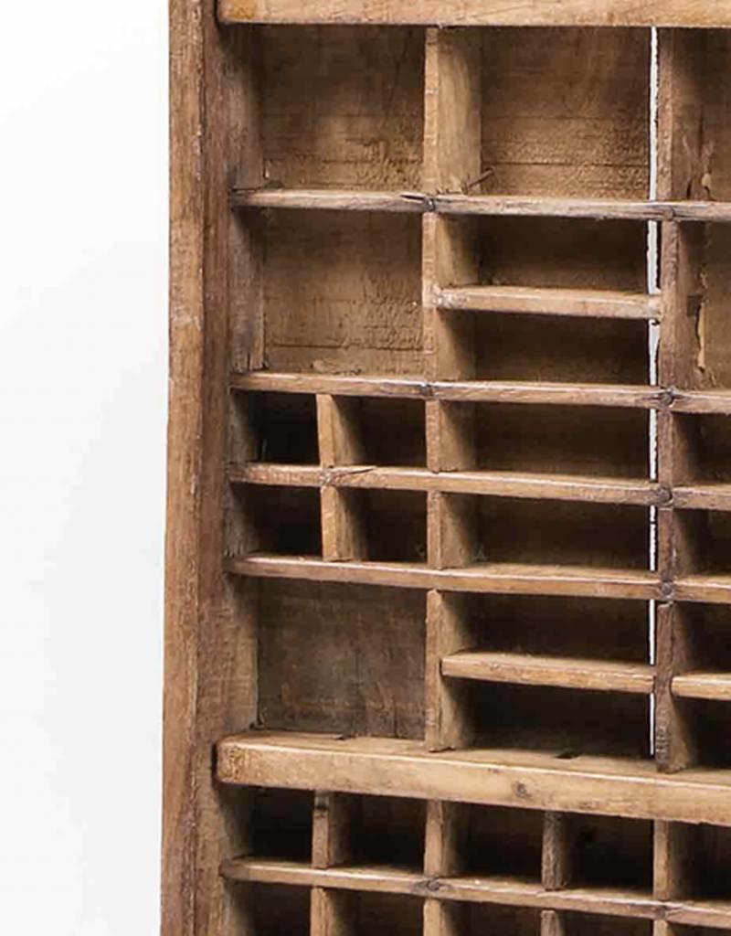 Antieke houten drukletter lade
