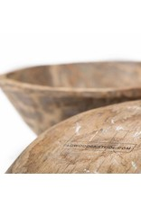 Small round wooden tray