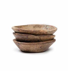 Kleine ronde houten schaal