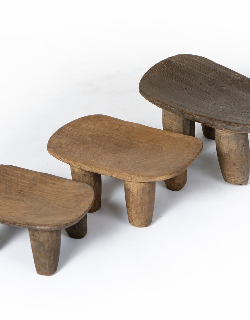 Authentic Senufo stools from Ivory Coast - Rare antique African ceremonial stools