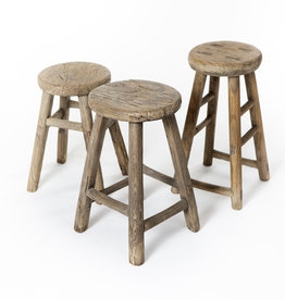 Old Chinese stool - round
