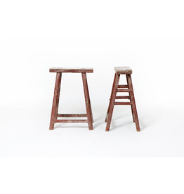 Old Chinese red Student stools