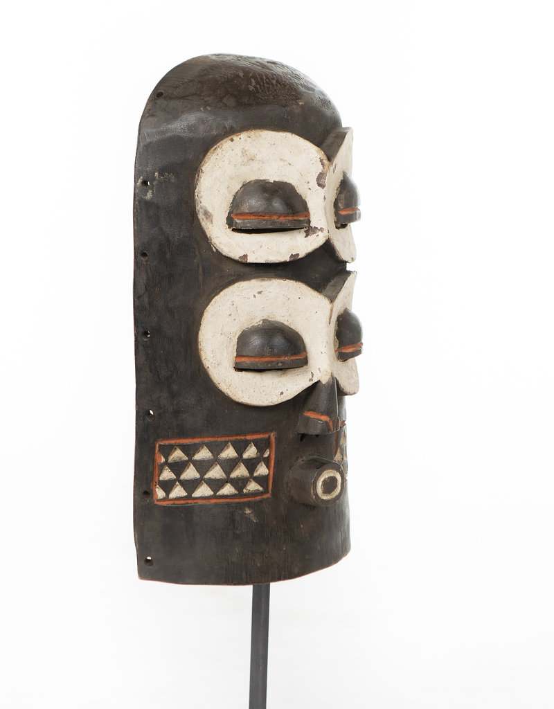 Unique large African Bembe Mask on stand - Original Mask From Congo on stand