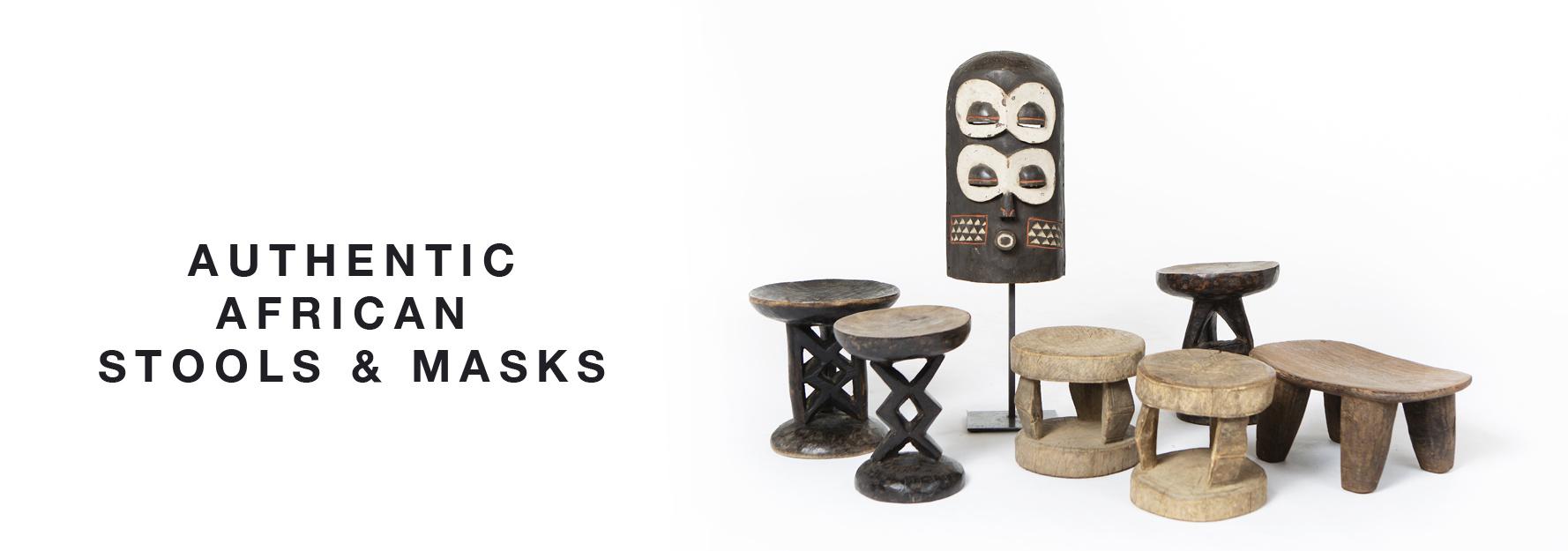 African stools & masks