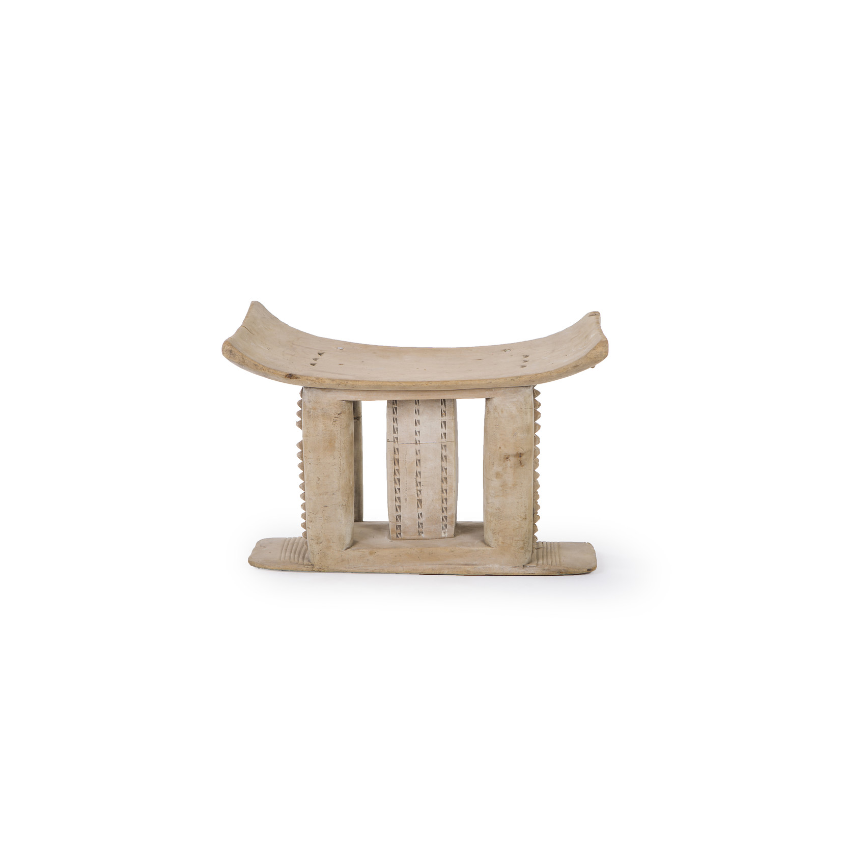 Authentic Ashanti stool from Ghana - Traditional handcarved African stools