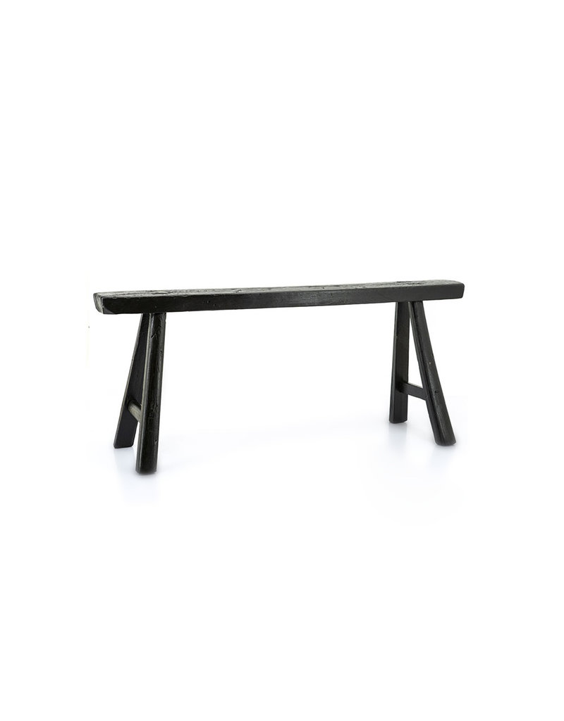 zwart Chinese houten bankje