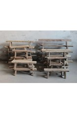 Antique Chinese small wooden benches