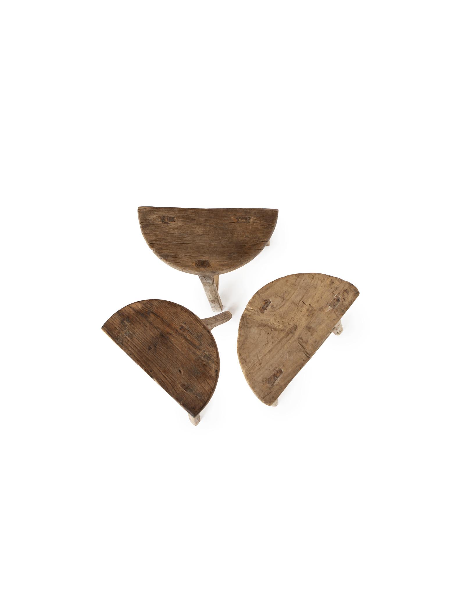 Oude Chinese half ronde kruk