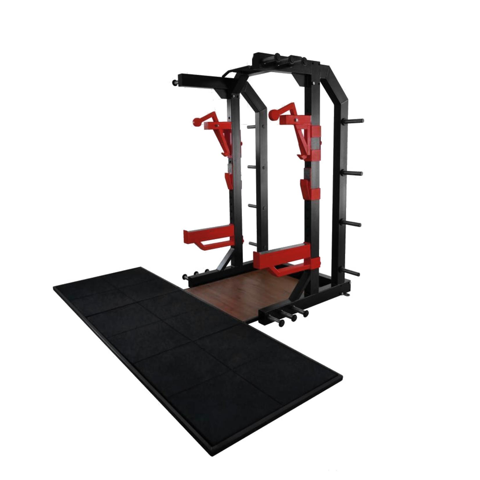 Half Rack met Gewichthefplatform