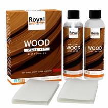 Kit d'entretien bois polonais Elite + nettoyant 2x250ml