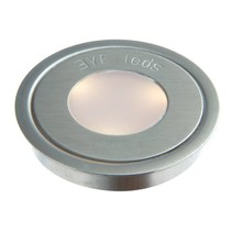 Rond RVS / Warm Wit 3 Leds