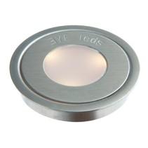 Ronde en acier inoxydable / blanc chaud 3 LED
