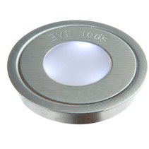 Redonda de acero inoxidable de 3 LED BLANCO