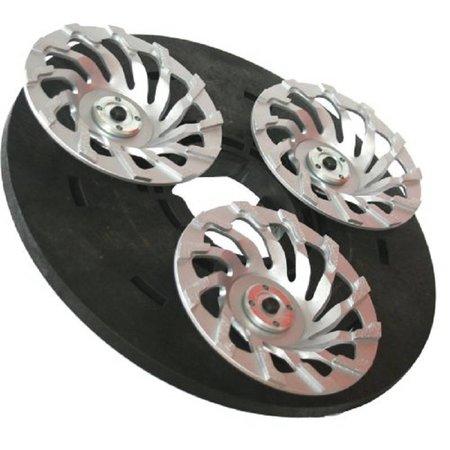 Numatic Diamond spherical disc 3x180mm (complete incl. Adapter)