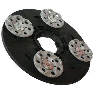 Numatic Rondelle de roue diamant 4x125mm (complet, adaptateur inclus)