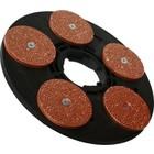 Numatic Disco de unidad con discos de lijado Titan Flat P14 5x125mm (adaptador incl. Completo)