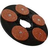 Numatic Disque d'entraînement avec disques abrasifs plats Titan P14 5x125mm (complet, adaptateur compris)