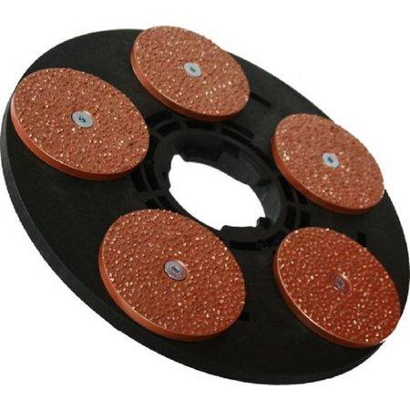 Numatic Unidad de disco con discos de lijado Titan Flat P14 5x125mm (adaptador incl. Completo)