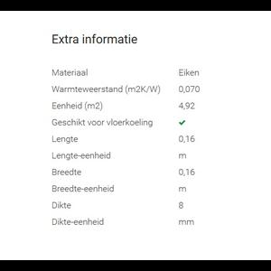Tisa-Line Essen A-klasse ondervloer 4,92m2 per pak