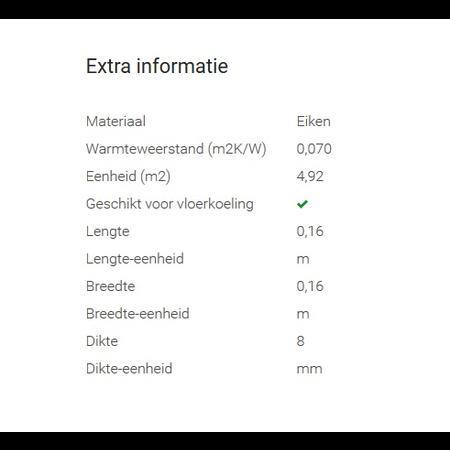 Tisa-Line Essen sous-plancher classe 4.92 m2 par paquet