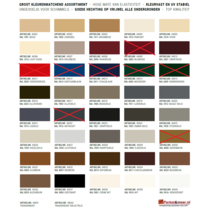 Soudal Silicone sealant on color - COLOR CHART-