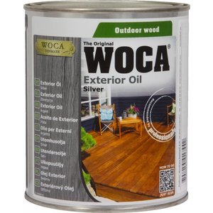 Woca Exterior Oil SILVER for Terrace, Furniture, Log Cabin etc.