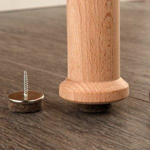 Tisa-Line Felt cap (felt glide) with screw