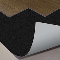 Black Floor 10 db Subfloor for click PVC - per roll of 15m2--1mm thick