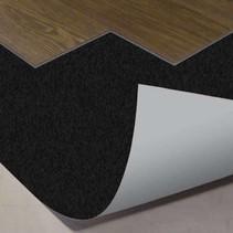 Plancher noir 10 db sous-plancher pour clic PVC - par rouleau de 15m2--1mm d'épaisseur