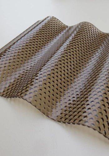 Acryl Wellplatten 76/18 - Bronze Wabe