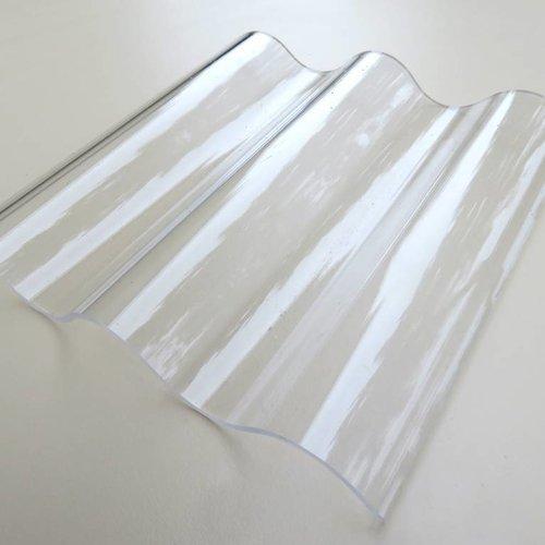 Acryl Wellplatten 76/18 - Farblos Glatt