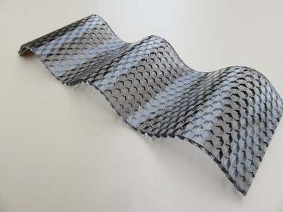 Acryl Wellplatten 76/18 - Graphit Wabe