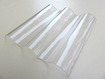 Acryl Wellplatten 130/30 P8 - Farblos Glatt