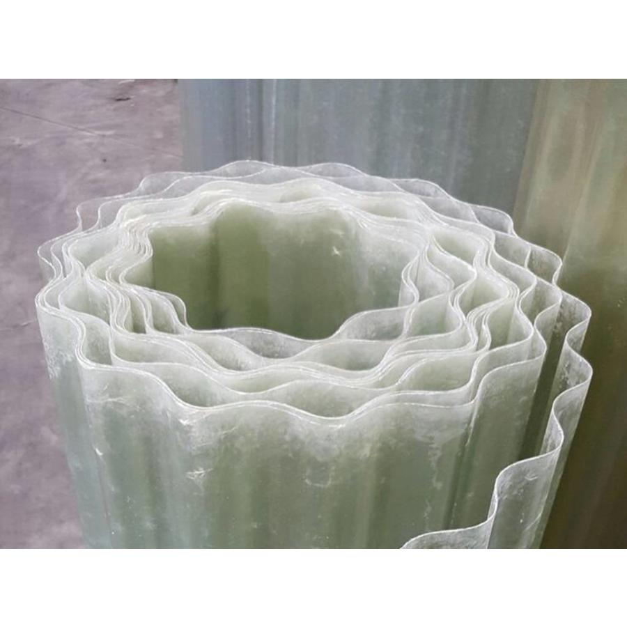 Wellpolyester Rollenware - Transparent-Natur - Gfk Wellplastik - Wellbahnen-3