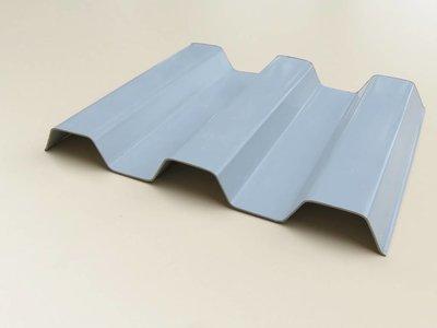 PVC Trapezplatten 70/18 - Opak-Grau - SOLLUX®
