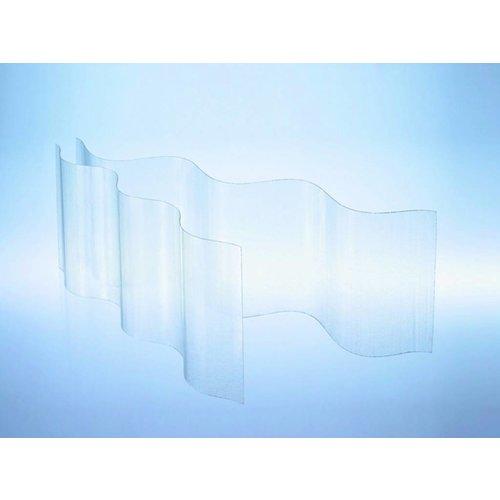 GFK Polyester Wellplatten 177/51 P6 - Farblos-transparent - Wellpolyester