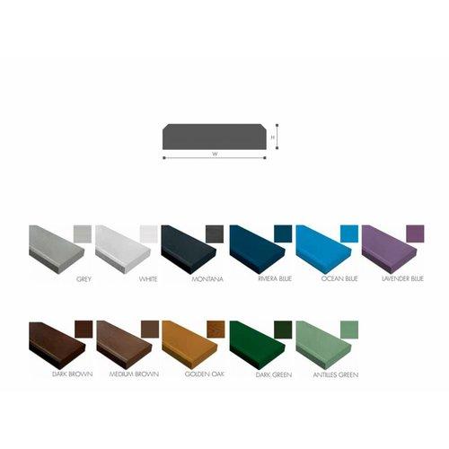 NOMAWOOD® Kunststoffpaneele BL2 - 4600x40x17mm - Kunststoffbretter