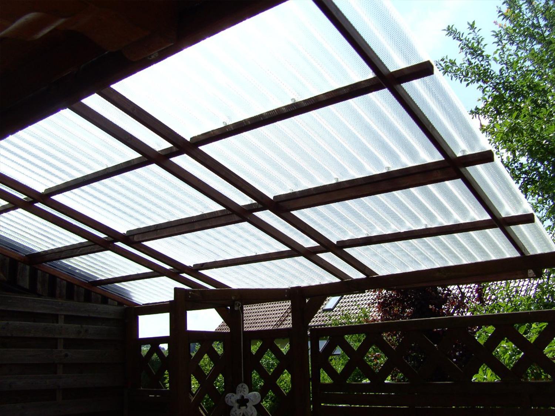 Acryl Wellplatten für die Terrasse