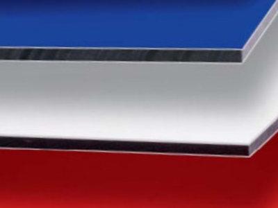 3mm ALUCOM® Alu Verbundplatten - Weiß-matt
