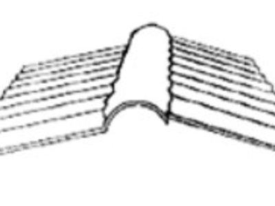 Firstprofil für Wellplatten 76/18