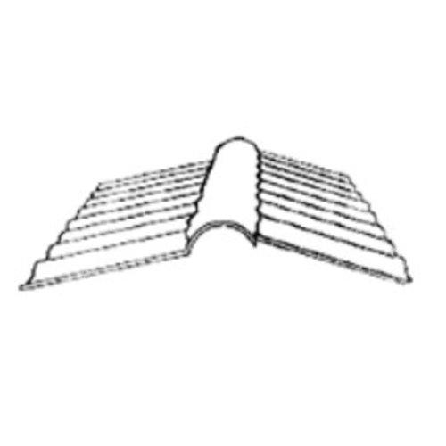 Firstprofil für Wellplatten 76/18 - Acrylglas - Glasklar - 270x1045mm